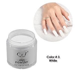dip powder, dipping powder, white