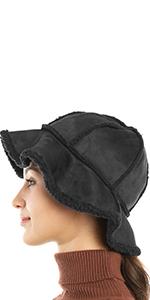 womens winter furry fuzzy hat