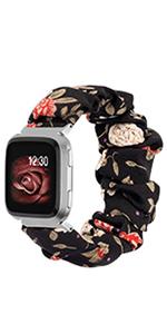 TOYOUTHS Fitbit Versa 2 Bands Scrunchie Women Elastic Cloth Fabric Replacement Bracelet Scrunchy