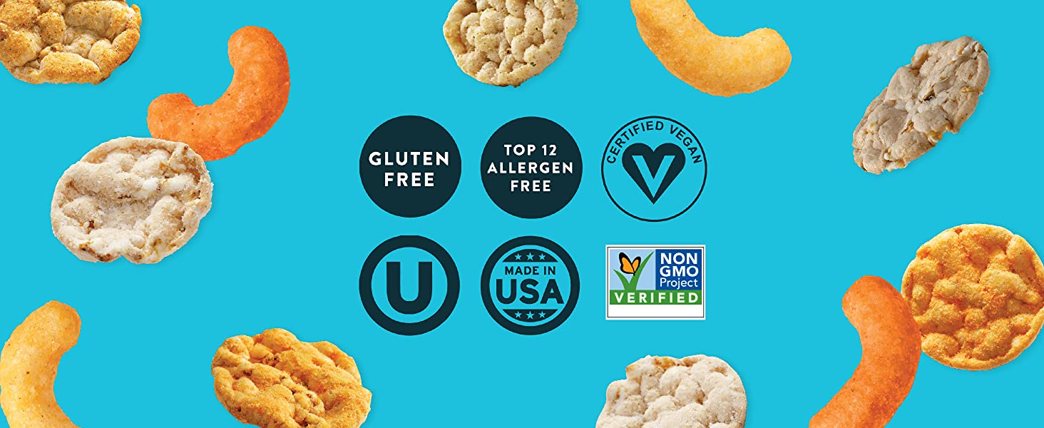 gluten free, vegan, allergen friendly, kosher, nonGMO