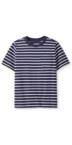 Boys Pima Cotton Short Sleeve Striped Shirt