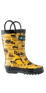 boy rain boot loop handle