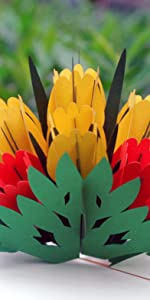 Tulip Flowers Pop Up Card