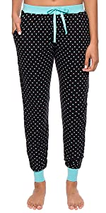 Womens Knit Jogger Lounge Pants