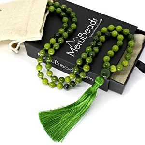 Nephrite Jade Mala Necklace