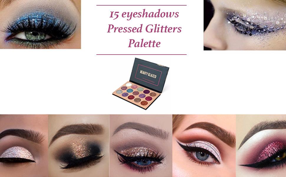 Beauty Glzaed 15 Colors Glitter Metallic Shimmer Eye Shadow