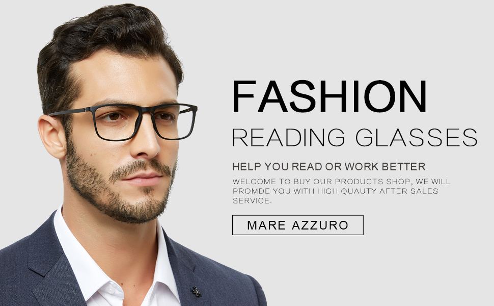 black reading glasses for men