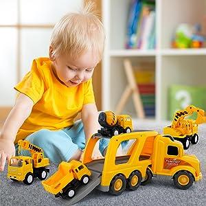 Carrier Truck  Truck Transport Car Carrier Toy        Construction Carrier   Hauler Truck
