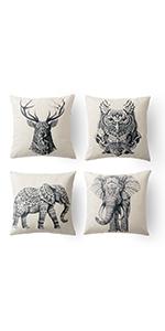 elephant decrotive pillow elephant pillows cover decorated cushion elephant pillows smile elephant