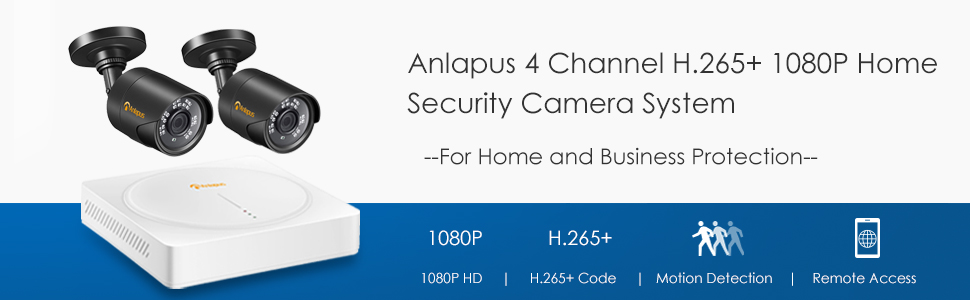 4CH H.265+ 1080P Security Camera System
