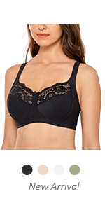 WIREFREE NON PADDED LACE BRA