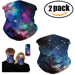 2 Pack Face Bandanas Unisex Headband Sun Face Scarf Neck Gaiters Dust, Outdoors, Festivals, Sports