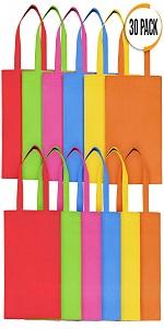 30 PCS Non-Woven Bag | Small 6 Bright Colours