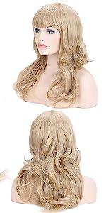 Ash Blonde Long Wig