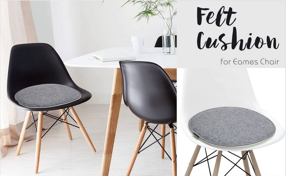 Felt Chair Pads seat Cushion Eames Chair DSW Plastic Chairs Pad Office Indoor Home Dining Kitchen
