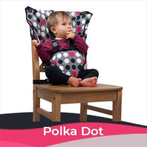 Cozy Baby Easy Seat Portable High Chair - Polka Dot