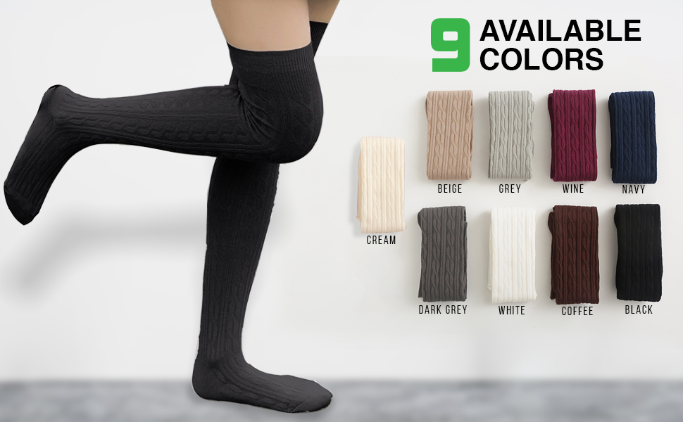 Over Knee High Thigh High Cotton Socks