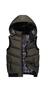 Vcansion Women's Padded Puffer Vest Warm Winter Coat with Removable Hood