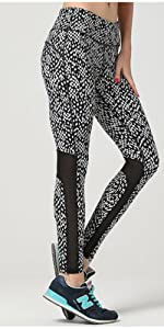 Compression Yoga Pants Power Stretch Workout Leggings with Waist Tummy Control