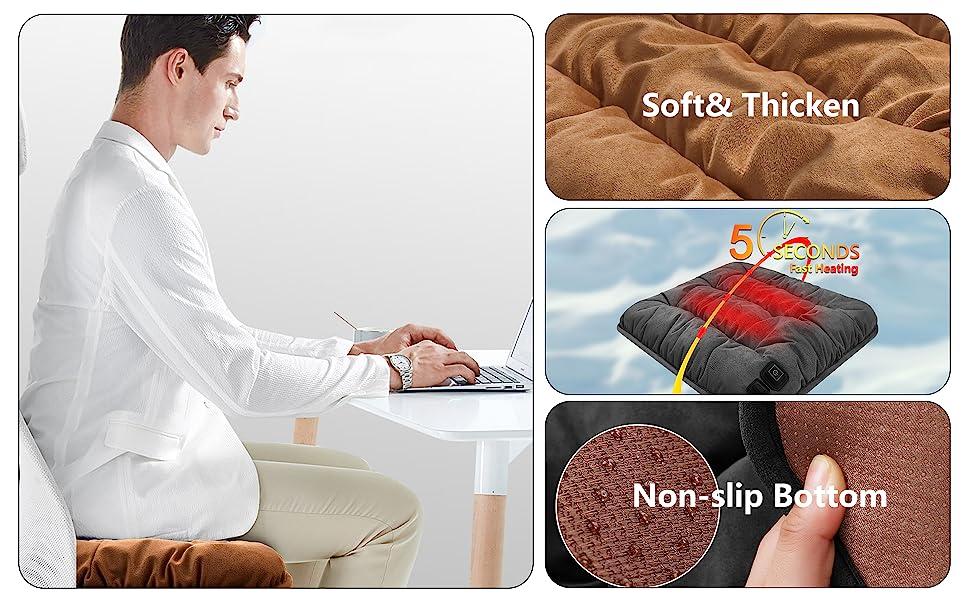 Heated Cushion For Home Office Desk Chair