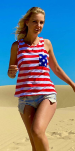 4th of July top tanks for Women