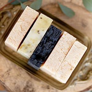 charcoal ginger lime peppermint tea tree soap bars bar
