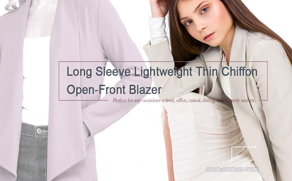 Michel Womens Blazer Lightweight Open Front Draped Casual Work Stretchy Blazer
