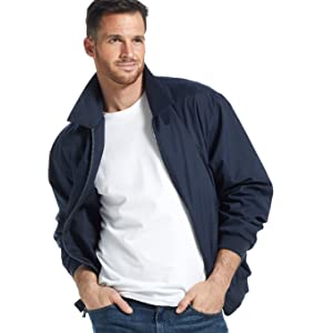 Microfiber Golf Jacket in Navy