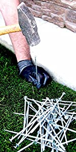 turf nails, turf spike, turf stakes, turf, grass, fake grass, synthetic turf, artificial grass,