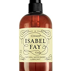 Isabel Fay lubricant for sex