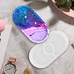 Resin Mold - Oval Jewelry Making Molds, Clear Epoxy Resin Casting Mold for DIY Jewelry Container