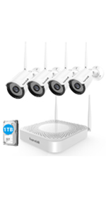 4ch Wireless Home Security Camera System