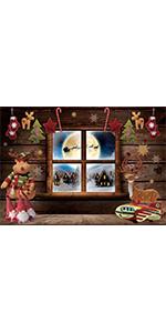 Christmas Window Backdrop