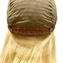 silk straight middle part bob wig