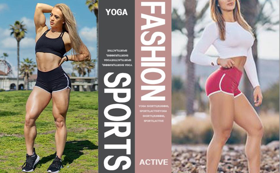 Women High Waist Yoga Shorts Tights Hot Short Waisted Gym Workout Running Leggings Camo Scrunch Butt Lifting Athletic