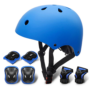 Gute Kids Adjustable Bike Helmet,Sport Protective Gear Set with Knee Elbow Wrist Pads for Toddler Age 3-8 Boys Girls,7Pcs Youth Safety Pads Set for Bicycle Skateboard Hoverboard Scooter Rollerblading