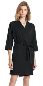 short cotton robe for women