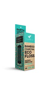 bamboo activated charcoal dental floss toothbrush  eco sustainable products plastic-free green mint