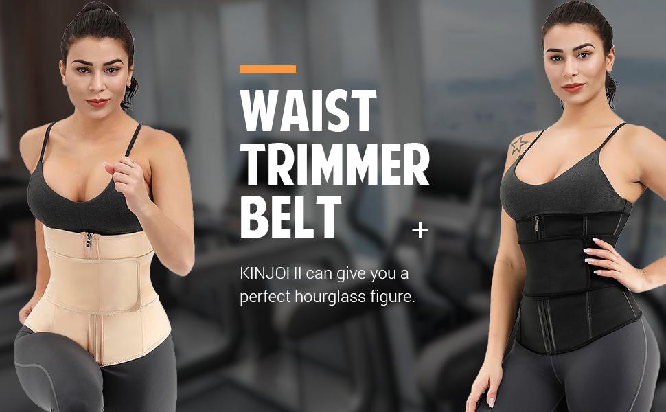 Womens Waist Trainer Weight Loss Corset Tummy Control Girdle Band Steel Boned Fat Burner Belt Slimming