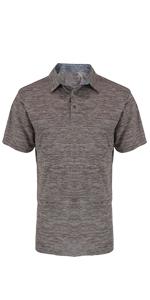 Gray Golf Polo Shirt