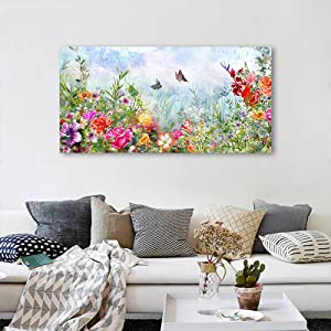 paintings canvas wall art flowers