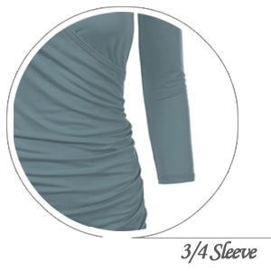 3/4 Sleeve Tops for Women with Plus Size