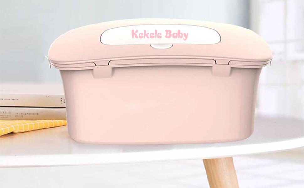 COMFORT INNOVATION Baby Wet Tissue Box Case Tissue Holder Baby Travel Wipe Press Pop up Pink