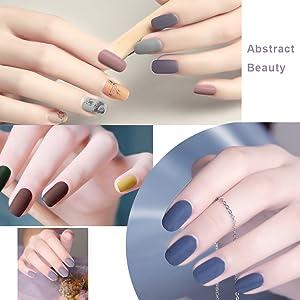 matte effect nail polish