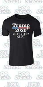 Donald Trump 2020 Pro Trump MAGA Merchandise USA Graphic Tee T-Shirt for Men