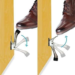 alarmed door stopper, hinge pin door stopper, cat door stopper