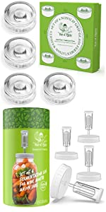 NonSlip Grip Fermentation Weights and Clear Fermenting Lids for Wide Mouth Mason Jars Fermenting Kit