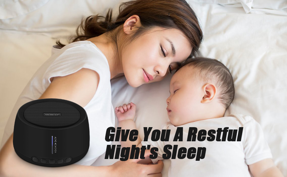 white noise sound machine for baby adult sleeping