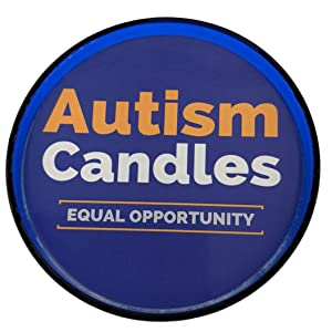View from the top of an Autism Candles stating Autism Candles equal opportunity.