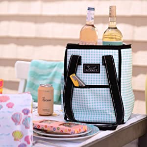 scout pleasure chest cooler bag insulated tote bag bag beach pool gift soft cooler wine bag